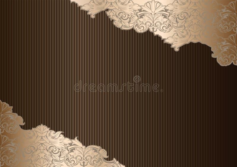 Королевская предпосылка в стиле года сбора винограда, в золоте, беж, шоколад, бронза, тени кофе бесплатная иллюстрация