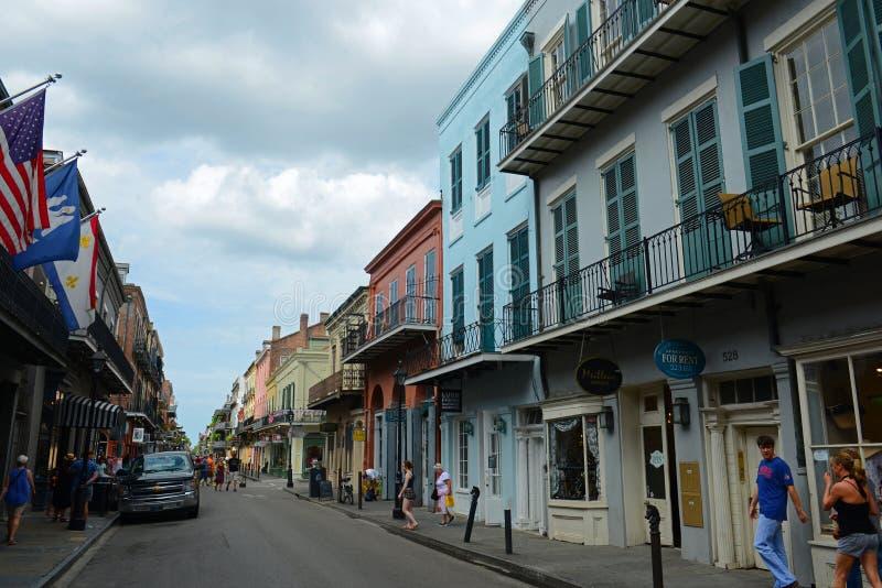 Королевская улица в французском квартале, Новом Орлеане стоковая фотография rf