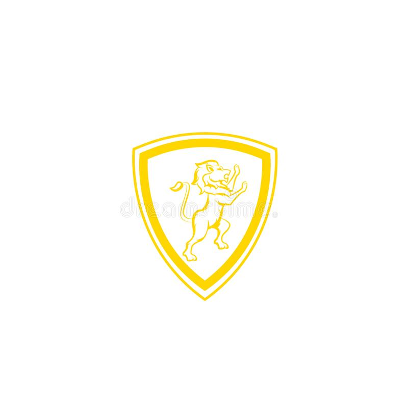 Королевские король льва/логотип гребня Шаблон дизайна логотипа экрана льва, логотип льва главный, элемент для образа бренда, illu бесплатная иллюстрация