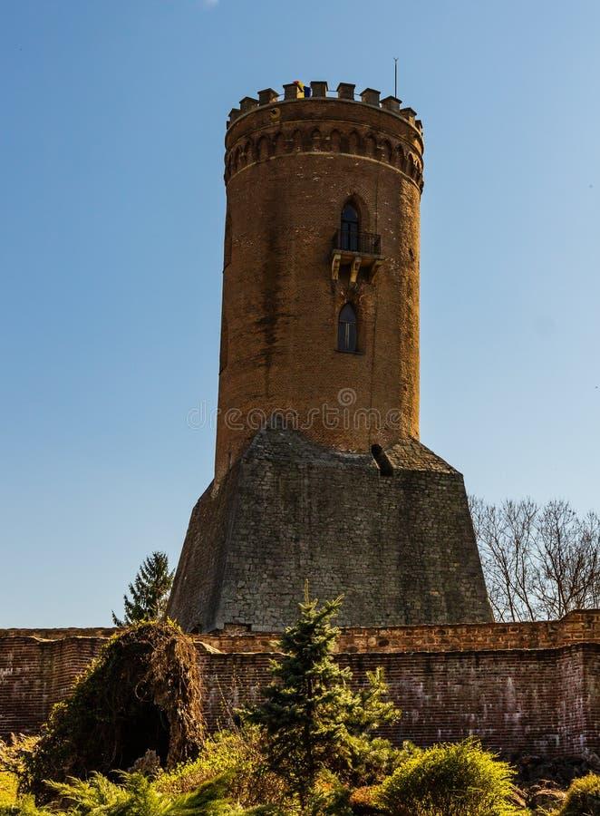 Королевские суд и башня Chindia в Targoviste, Румынии стоковое изображение rf