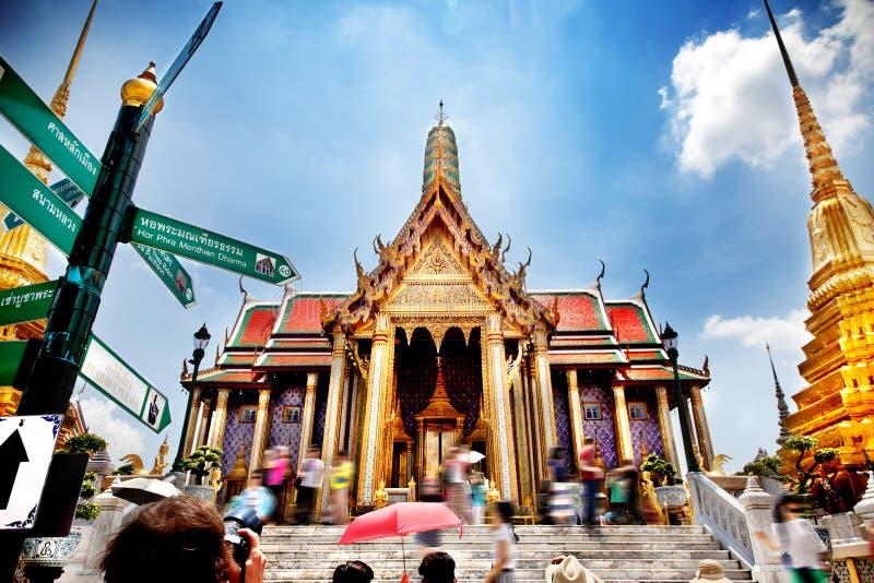 Королевский дворец Таиланда Памятники города Бангкока Экзотические отключения и приключения стоковая фотография