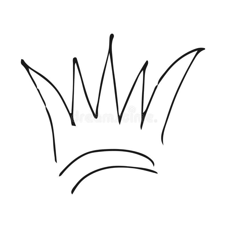 Королевский имперский символ коронования и монарха иллюстрация вектора
