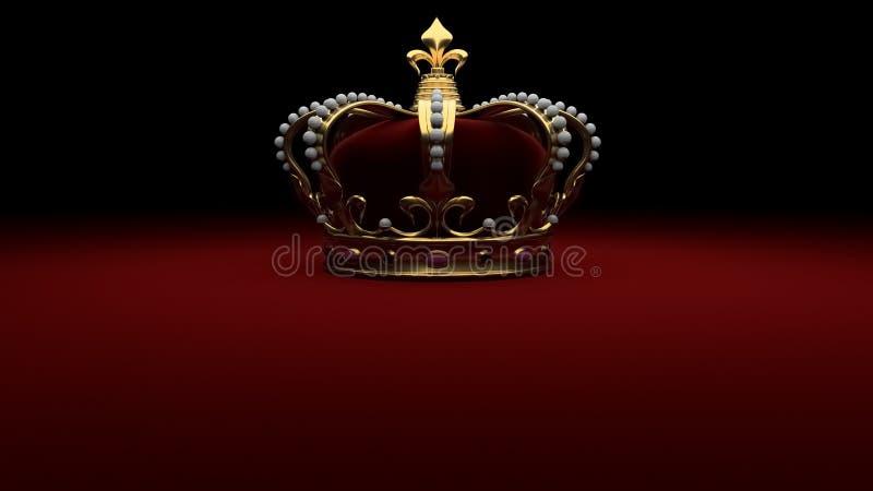 Королевский король предпосылки кроны золота бесплатная иллюстрация