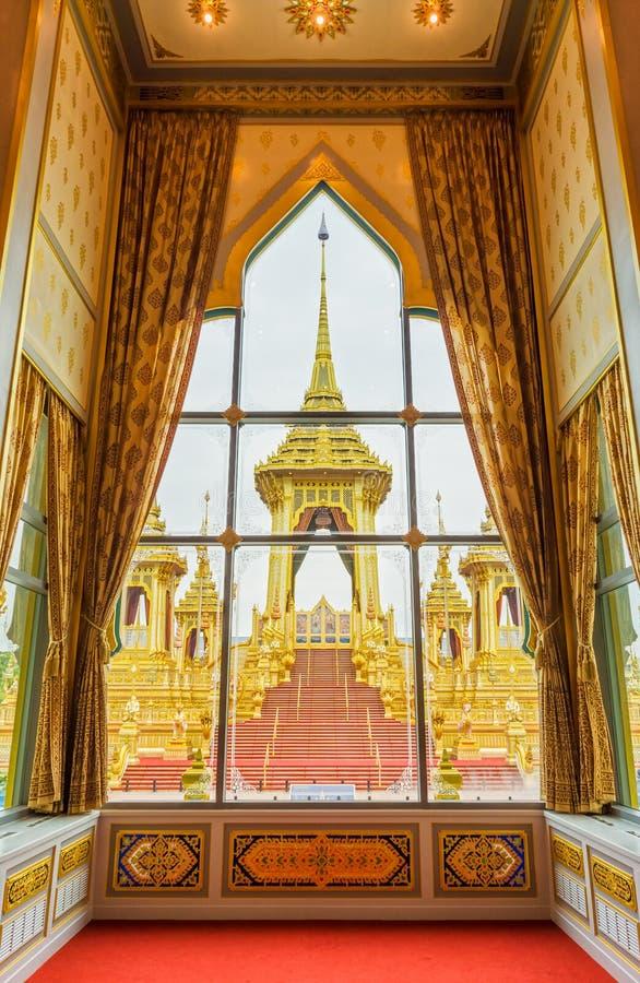 Королевский крематорий для его последнего короля Bhumibol Adulyadej высочества, взгляда Rama IX от песни Tham Phra Thinang стоковые изображения rf