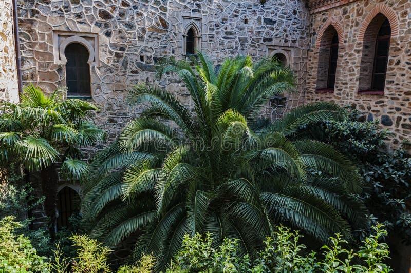 Королевский монастырь Santa Maria de Guadalupe, Caceres, Испании стоковое изображение rf