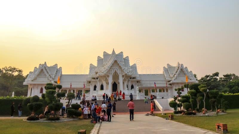 Королевский тайский монастырь в Lumbini, Непале стоковое фото rf