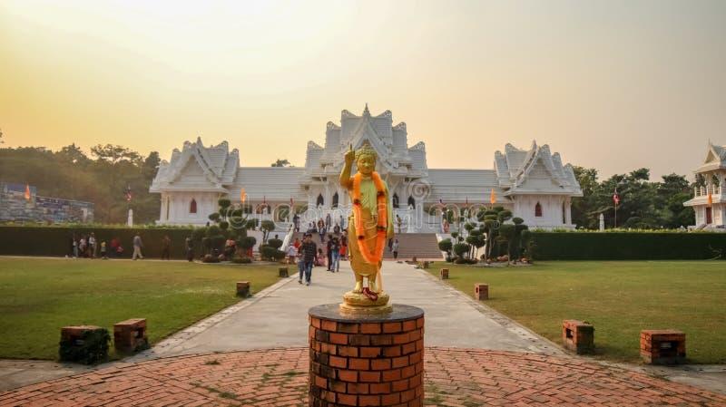 Королевский тайский монастырь в Lumbini, Непале стоковая фотография