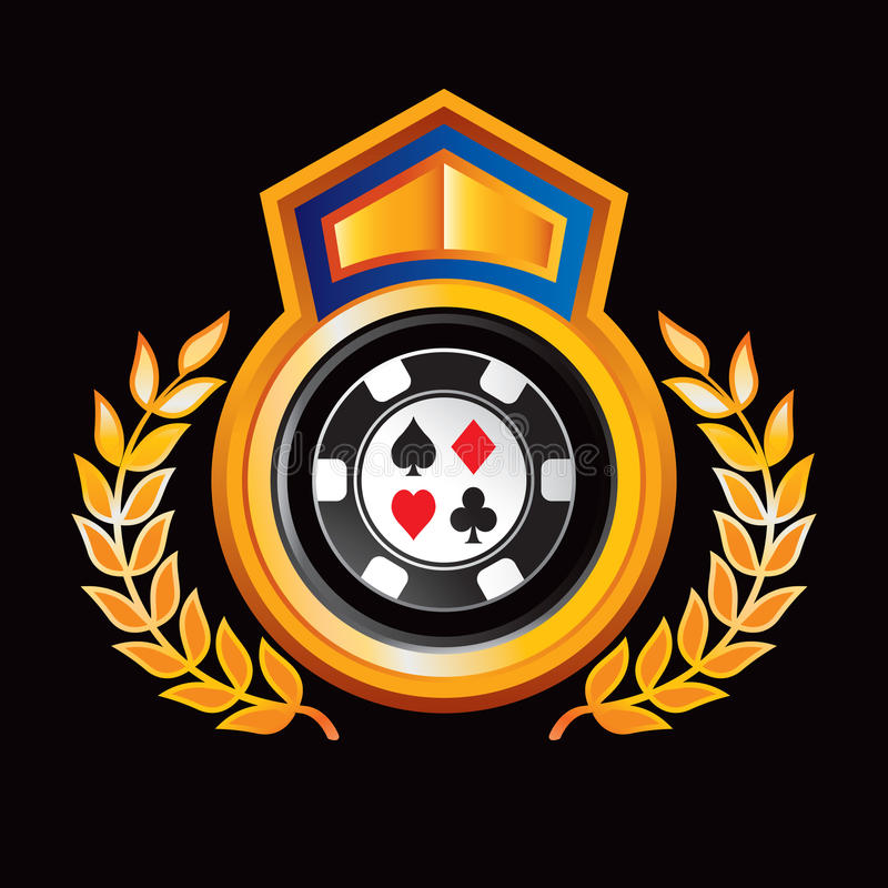 королевское дисплея обломока казино померанцовое бесплатная иллюстрация