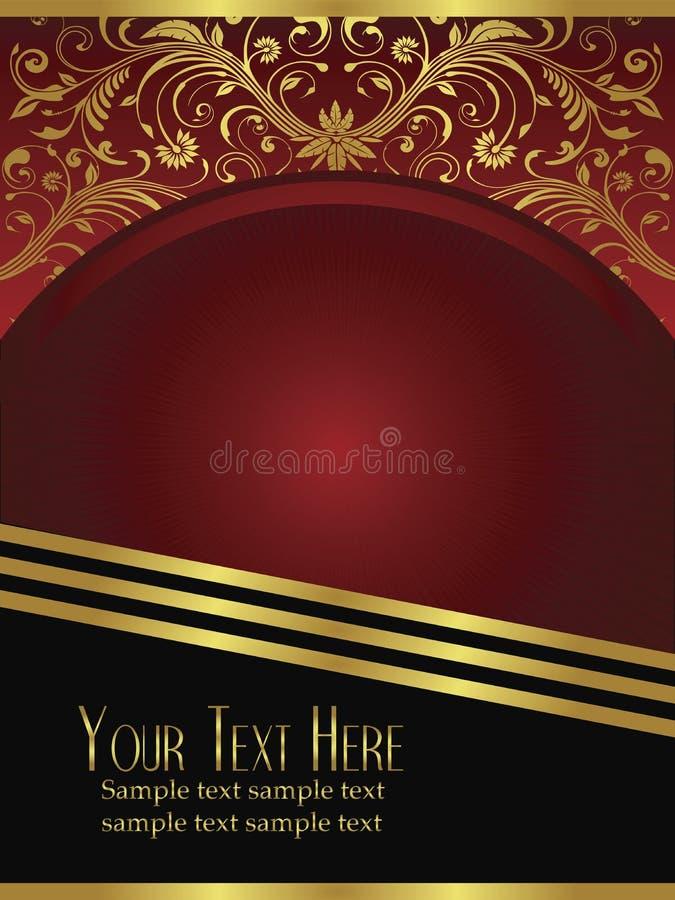 королевское листового золота burgundy предпосылки богато украшенный