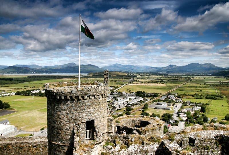 королевство вэльс harlech замока соединенный севером стоковое фото