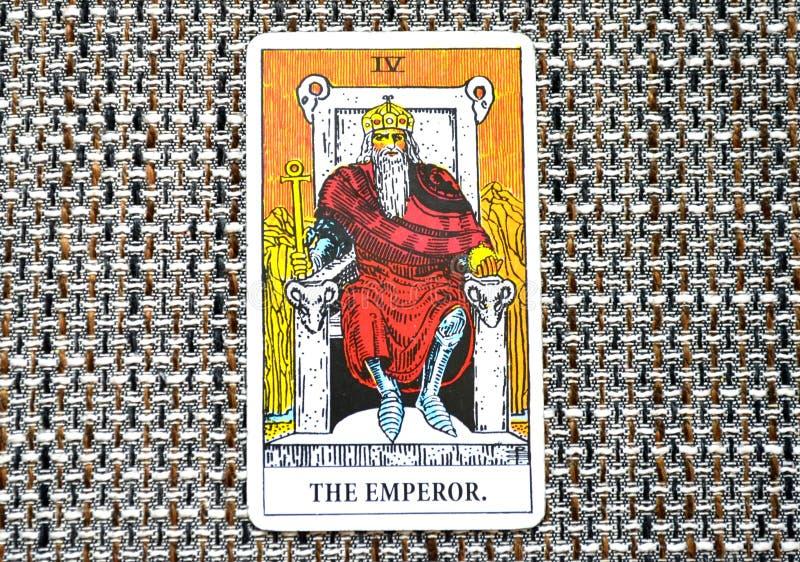 Король Босс правителя руководителя силы карточки Tarot императора стоковая фотография rf