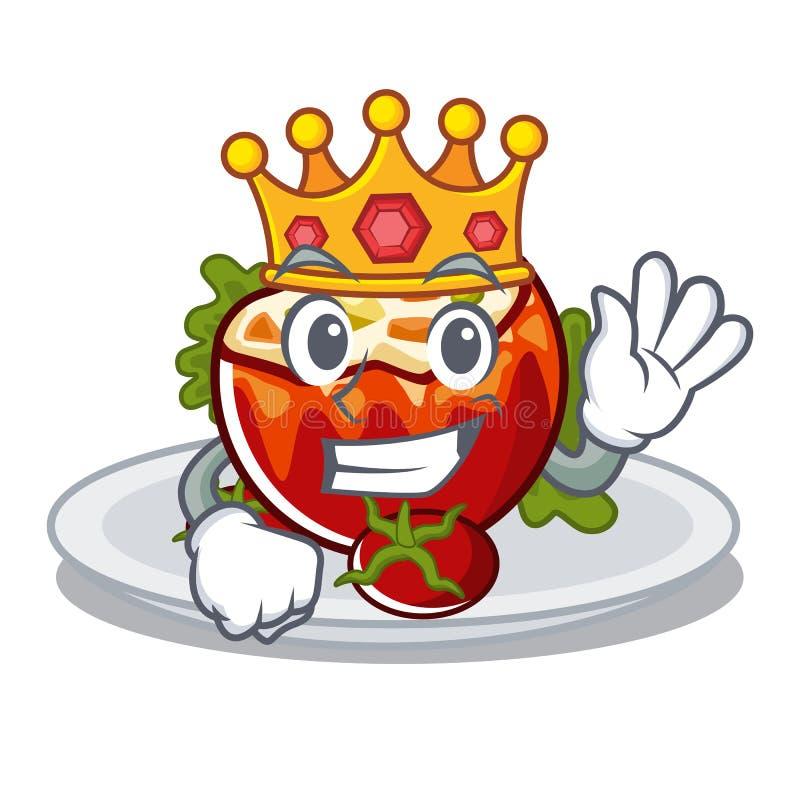 Король заполнил томаты в форме мультфильма бесплатная иллюстрация