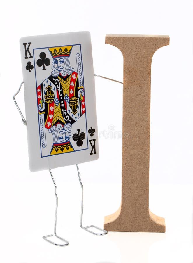 Король и я игральная карта стоковое фото