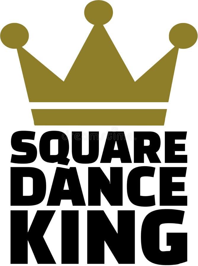 Король квадратного танца с кроной иллюстрация штока