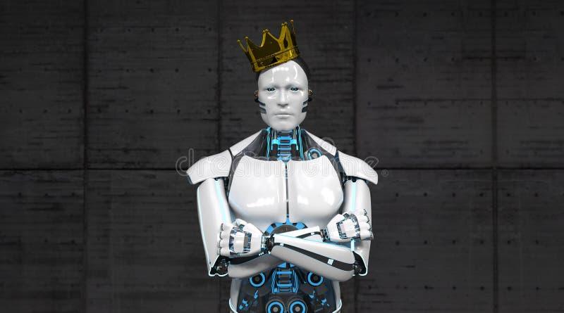 Король Крона робота иллюстрация штока
