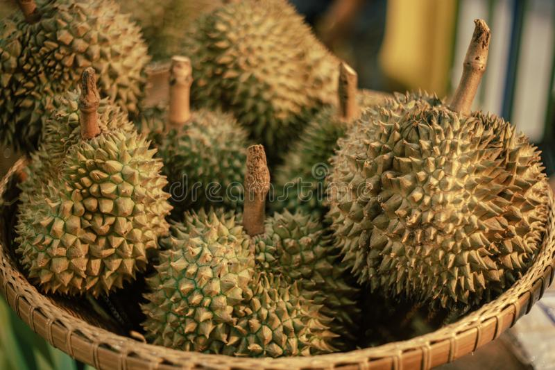 Король плодов, дуриан тропический плод Юго-Восточной Азии стоковые фотографии rf