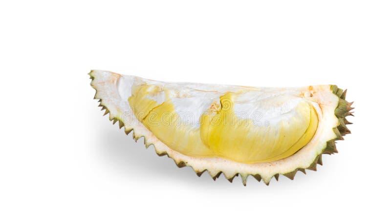 Король плодоовощей, дуриан изолированный на белой предпосылке с clippin стоковая фотография