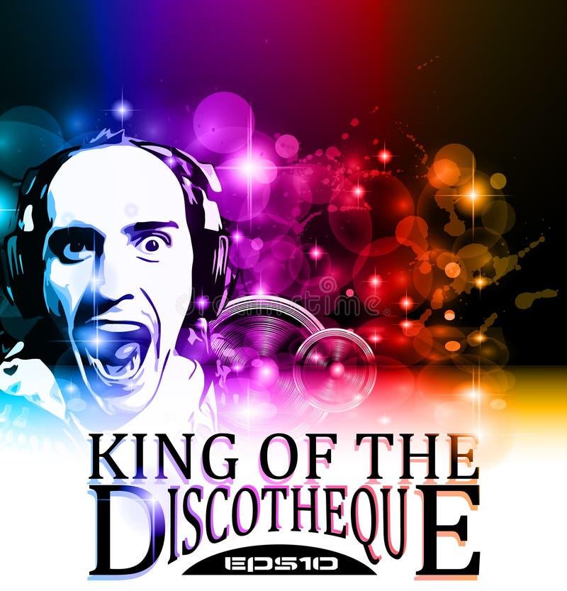 Король рогульки discotheque иллюстрация вектора