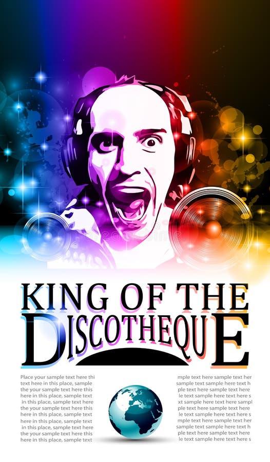 Король рогульки discotheque бесплатная иллюстрация