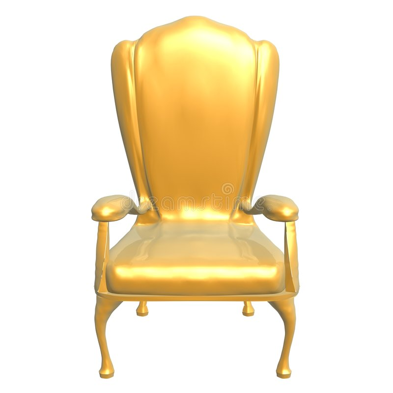 король стула золотистый иллюстрация штока