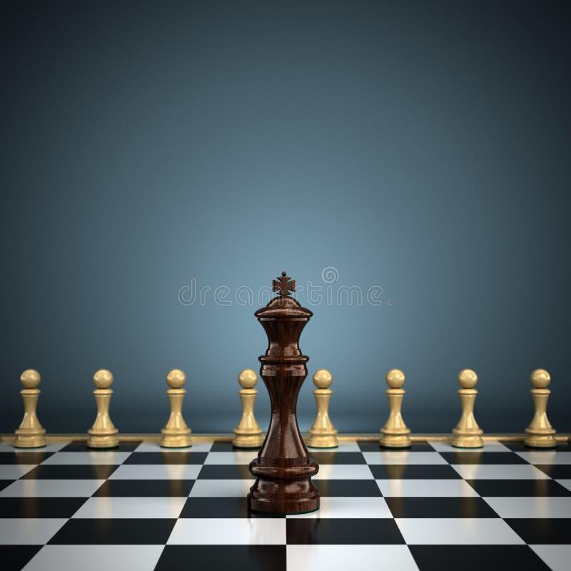 Король с пешками бесплатная иллюстрация