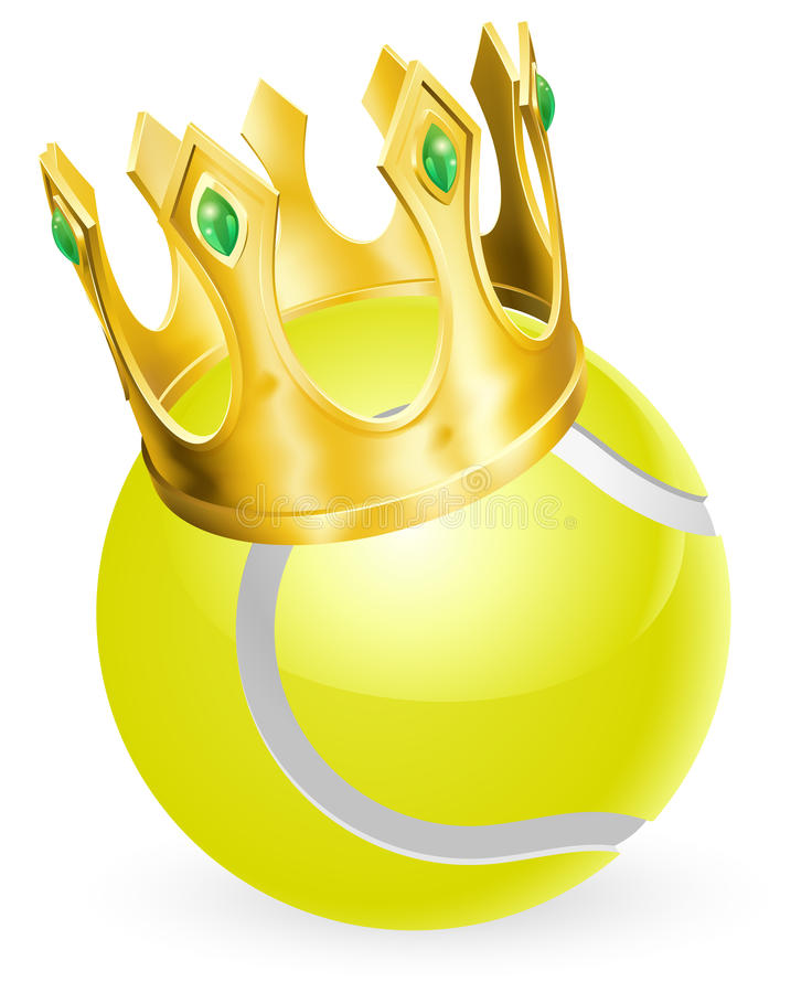 Король тенниса иллюстрация штока
