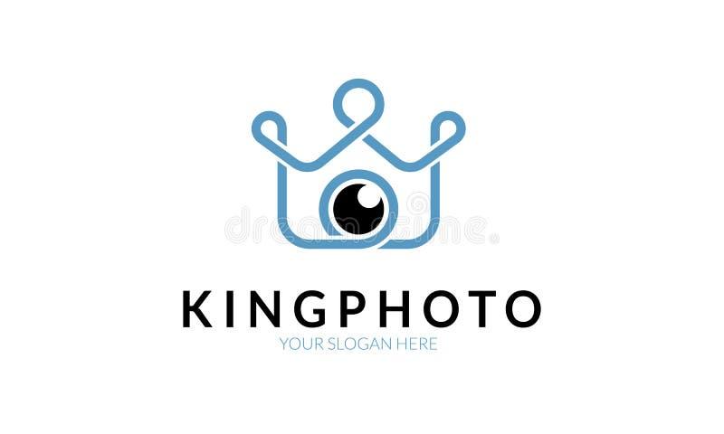 Король Фото Логотип Шаблон стоковые изображения
