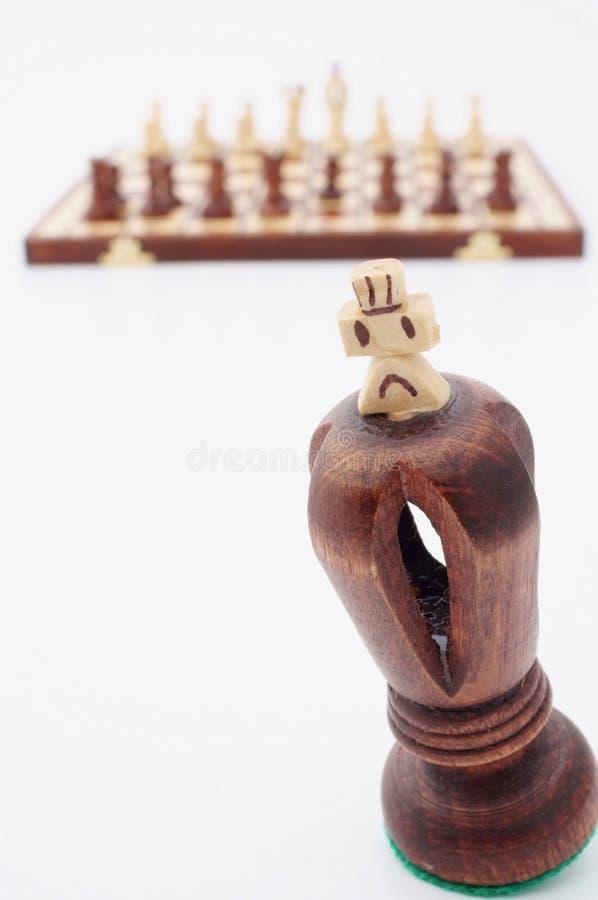 Король части шахмат стоковые фотографии rf