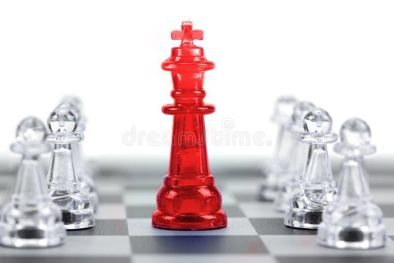 Король шахмат, руководитель и сыгранность для концепции дела стоковые фотографии rf