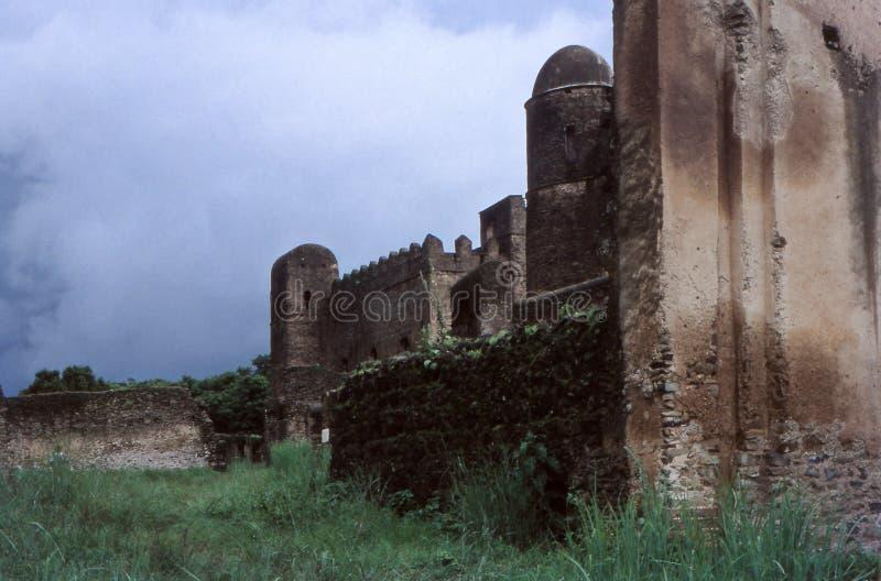 Король Эфиопии разрушает замок короля, Гондар, Эфиопия стоковые фото
