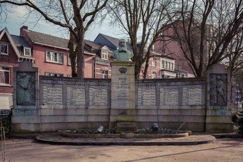 Король Leopold 2 мемориальный Hasselt, Бельгия стоковые фото