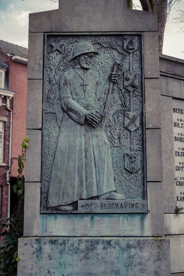 Король Leopold 2 мемориальный Hasselt, Бельгия стоковое изображение rf