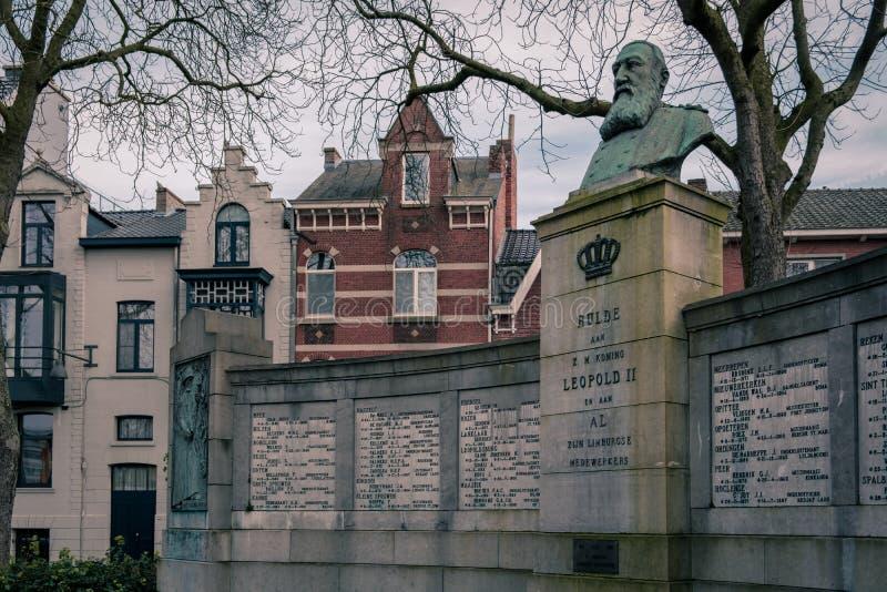 Король Leopold 2 мемориальный Hasselt, Бельгия стоковые изображения