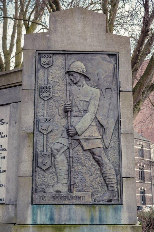Король Leopold 2 мемориальный Hasselt, Бельгия стоковые фотографии rf