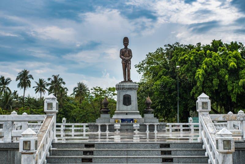 Король Rama V Памятник на ремне Sala, Koh Phangan, Таиланде стоковая фотография