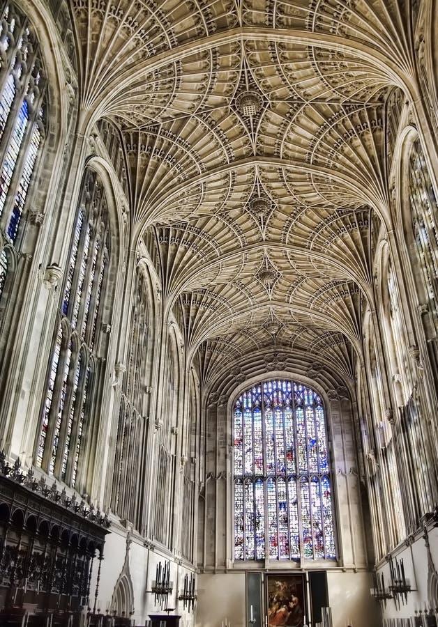 король s Англии коллежа молельни cambridge стоковая фотография rf
