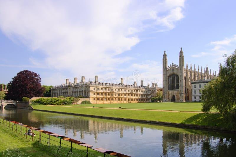 Короля Коллеж и молельня, Кембридж стоковое изображение rf