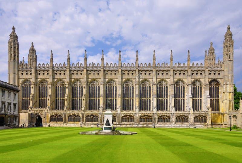 Короля Коллеж Молельня, Кембридж стоковые изображения rf