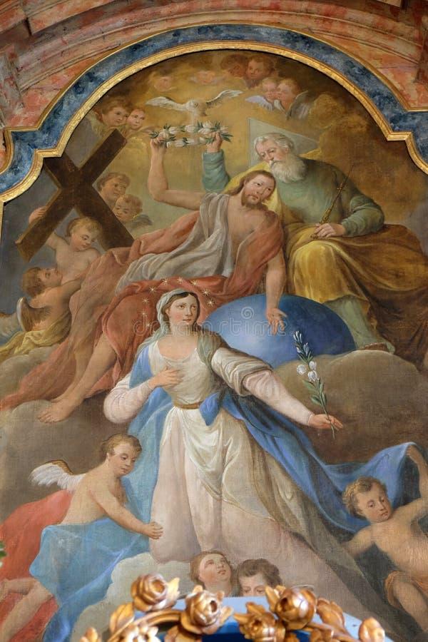 Коронование девой марии стоковое фото rf