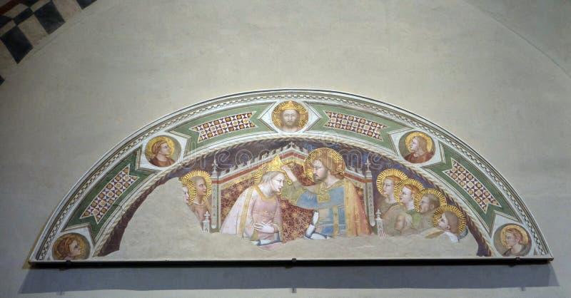 Коронование девственницы, di Santa Croce базилики во Флоренс стоковое изображение rf