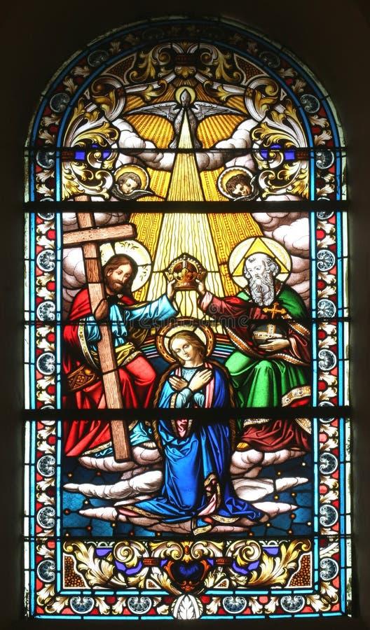 Коронование Mary стоковая фотография