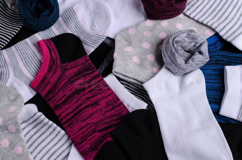Короткий очистите связанные носки стоковая фотография