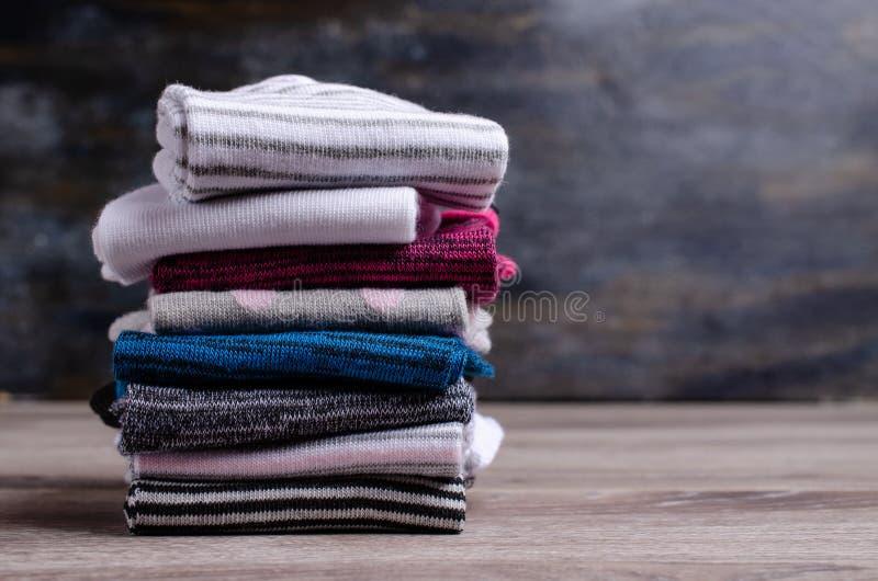 Короткий очистите связанные носки стоковое изображение