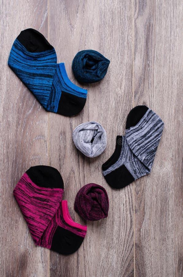 Короткий очистите связанные носки стоковая фотография rf
