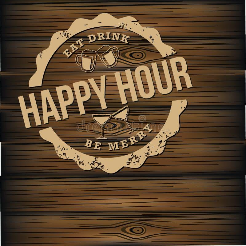 Королевская власть предпосылки пива счастливого часа освобождает иллюстрацию иллюстрация штока