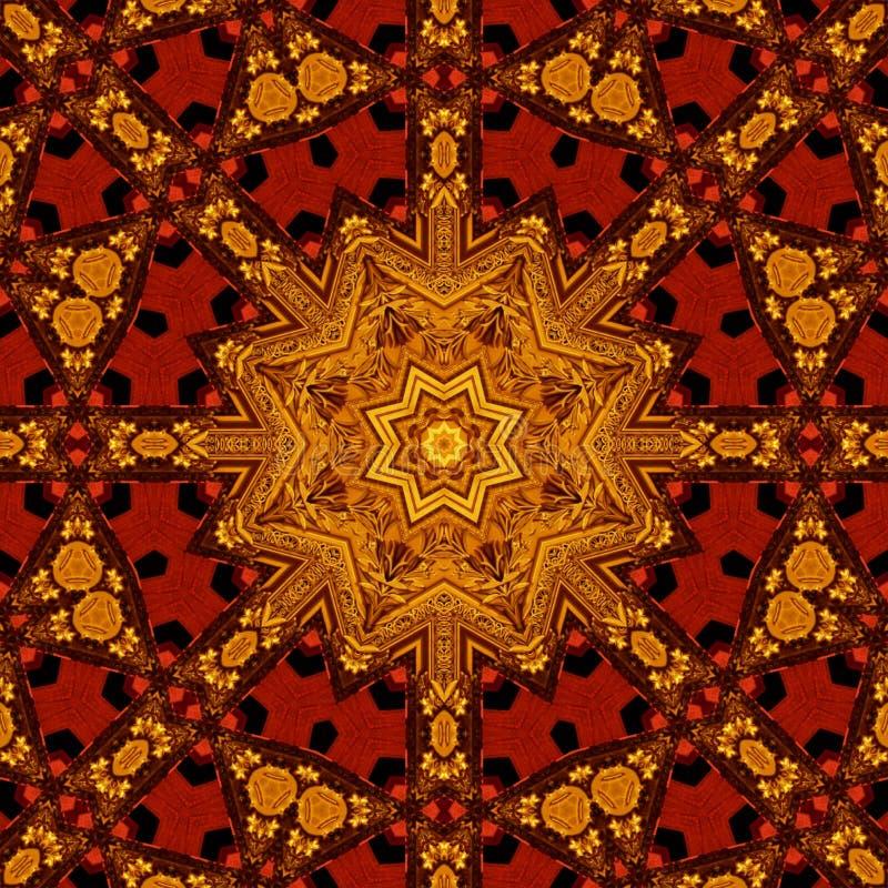 Королевская картина 006 красного цвета и золота бесплатная иллюстрация