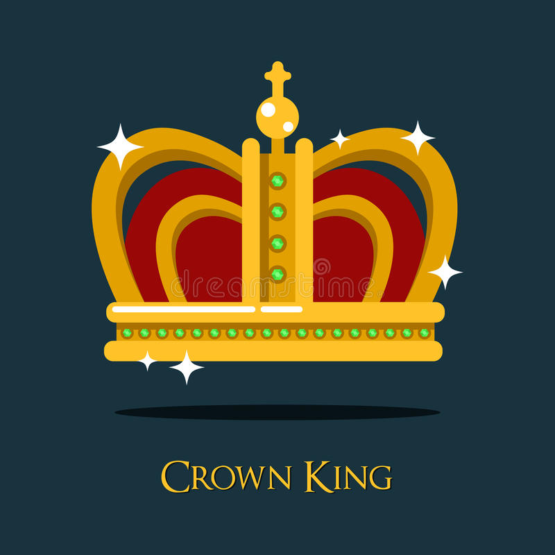 Королевская крона короля или ферзя, значок тиары Папы бесплатная иллюстрация