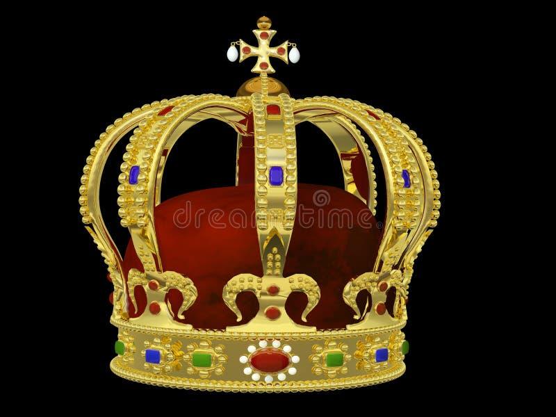 Королевская крона с драгоценностями стоковое изображение rf