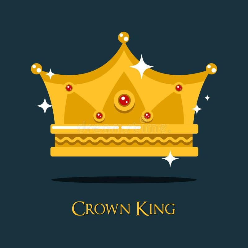 Королевская крона для короля или принцессы, тиары золота ферзя бесплатная иллюстрация
