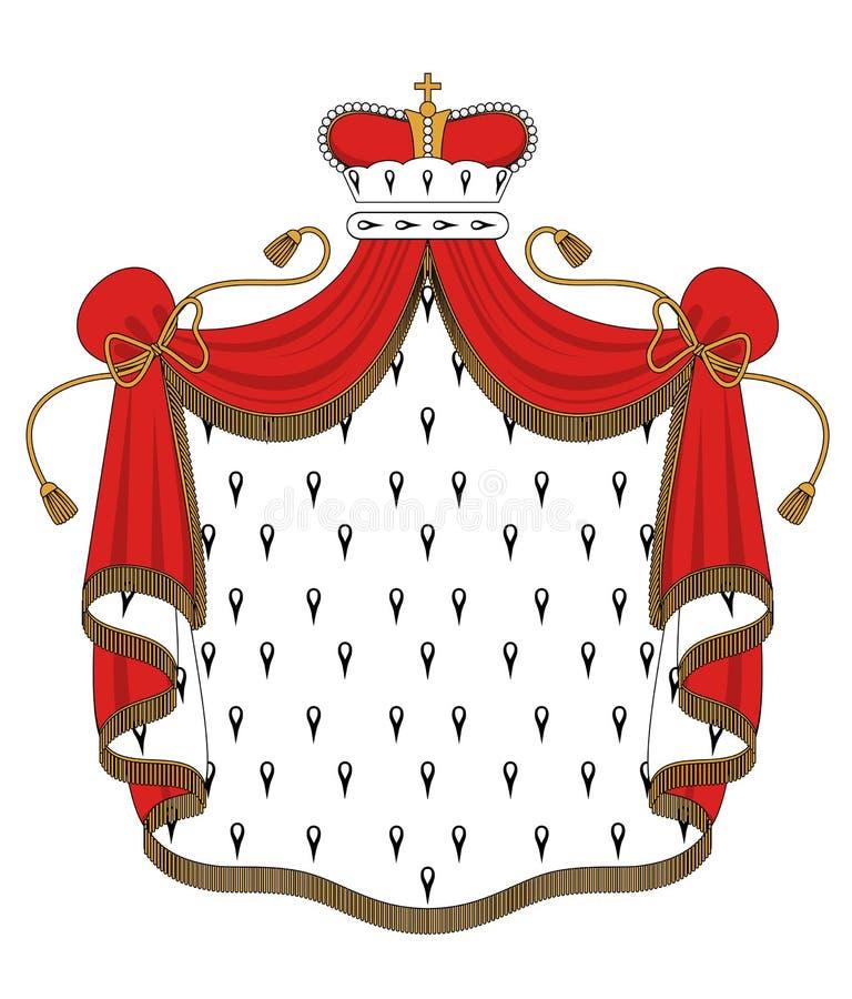 Download Королевская хламида иллюстрация вектора. иллюстрации насчитывающей плащ - 33733831